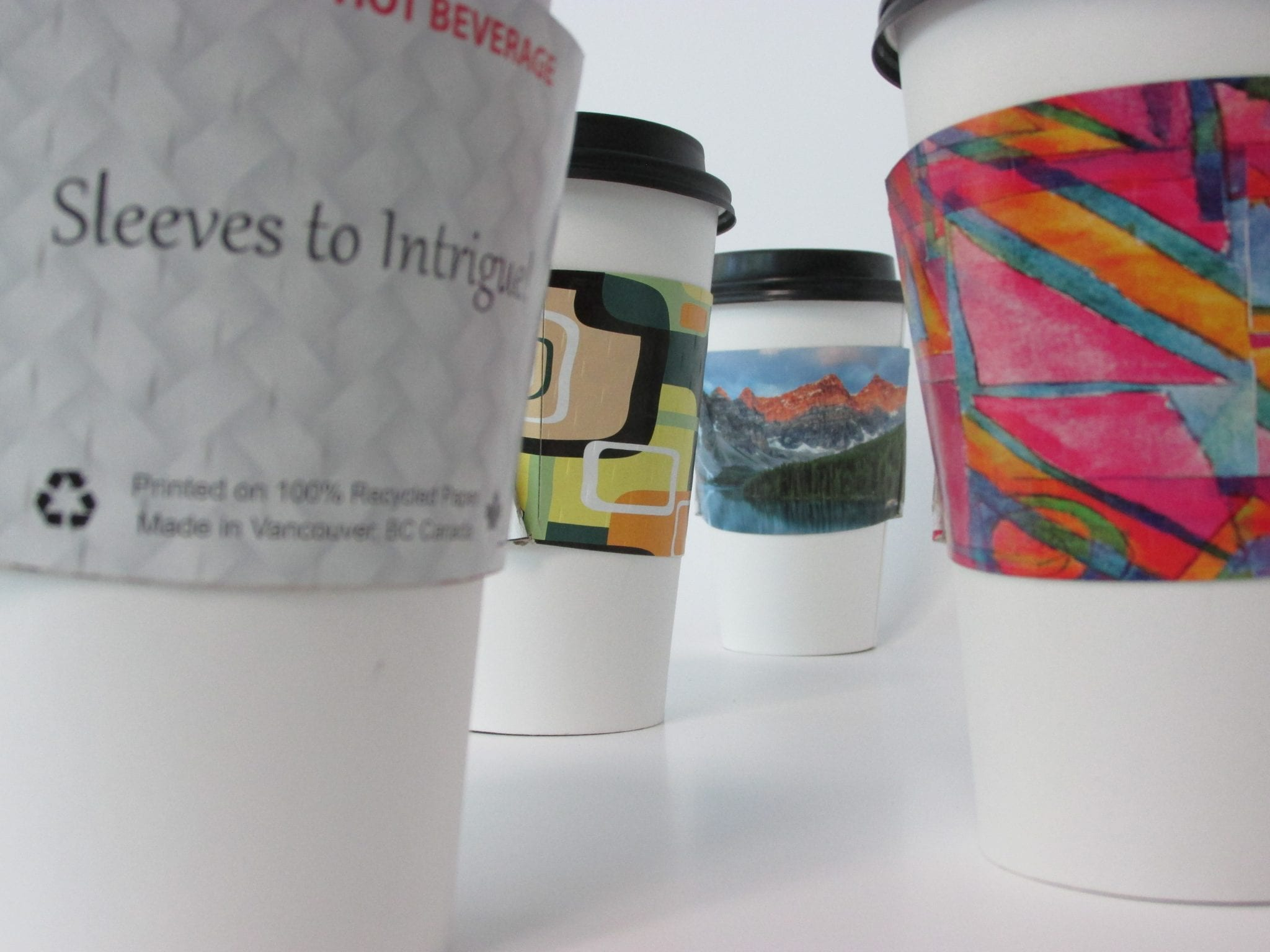 coffee cup sleeves to intrigue