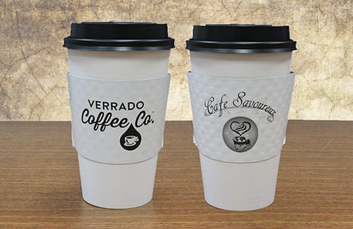 1 & 2 Color Branded Coffee Sleeves