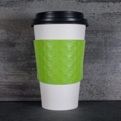 green color coffee cup sleeve