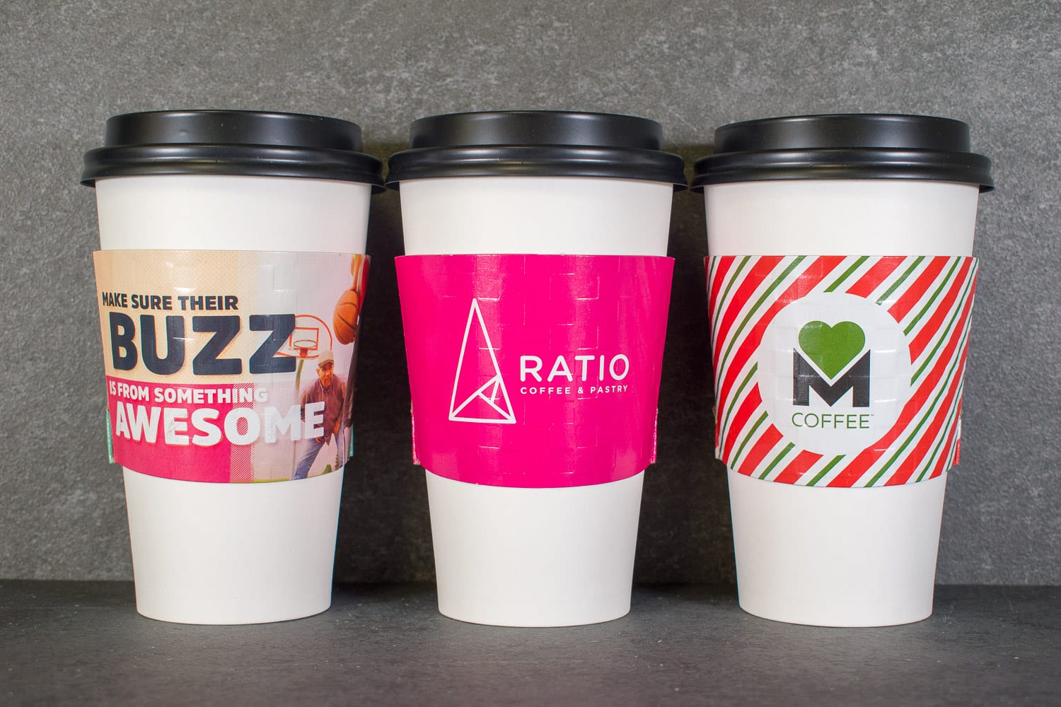 Custom coffee cup sleeves