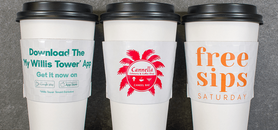 custom coffee sleeves are a walking billboard