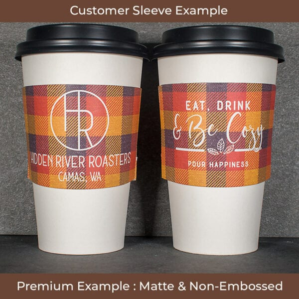 Full color smooth coffee sleeve