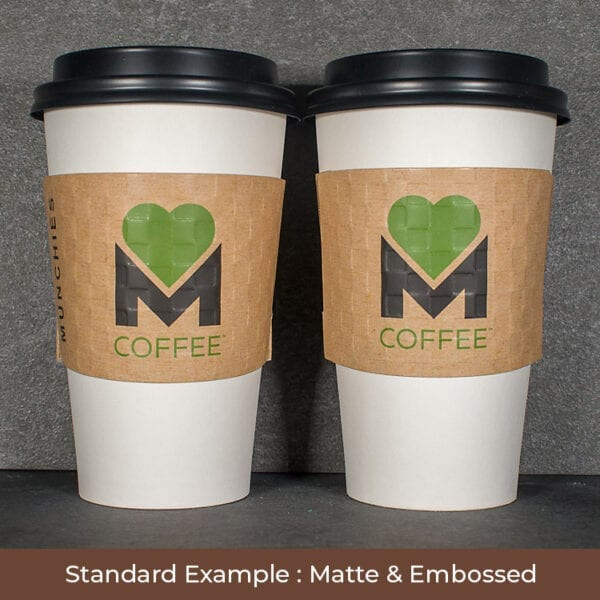 2 color kraft coffee sleeve