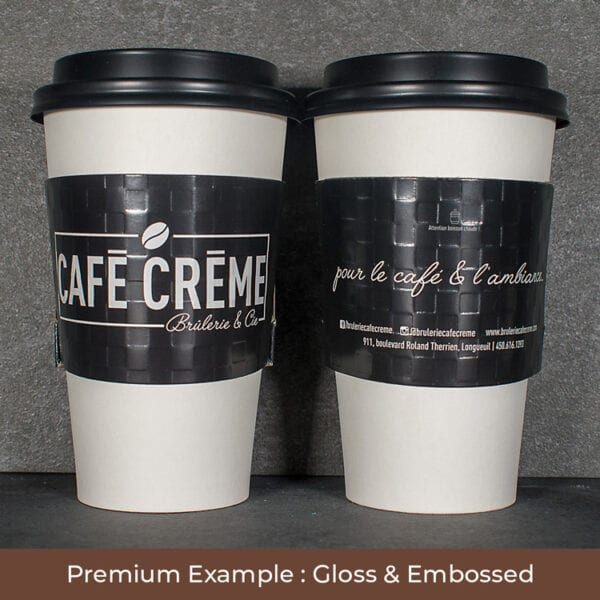 Black custom coffee sleeve