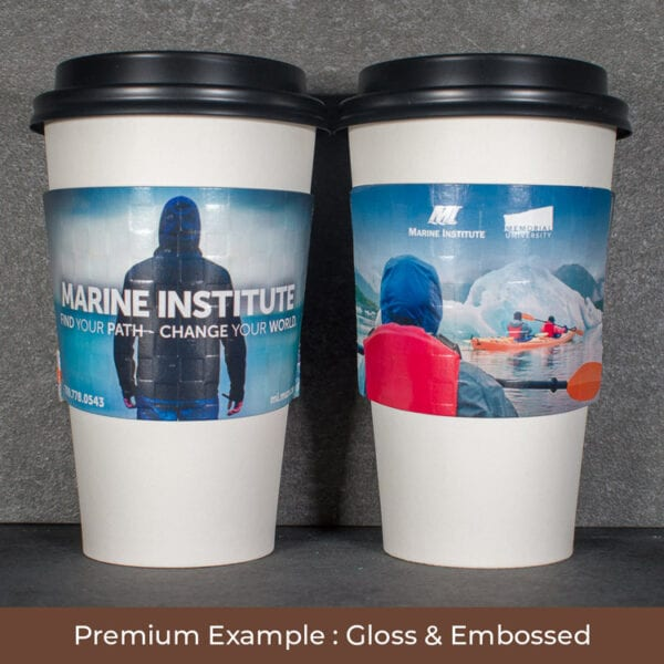 Full color coffee sleeves
