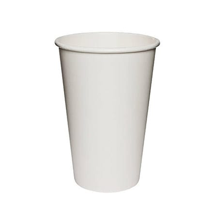 Plain white hot cup